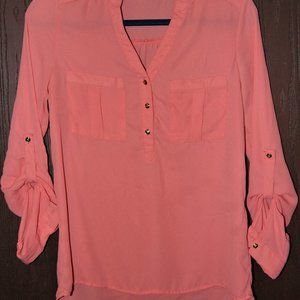 Coral colored Christopher & Banks blouse